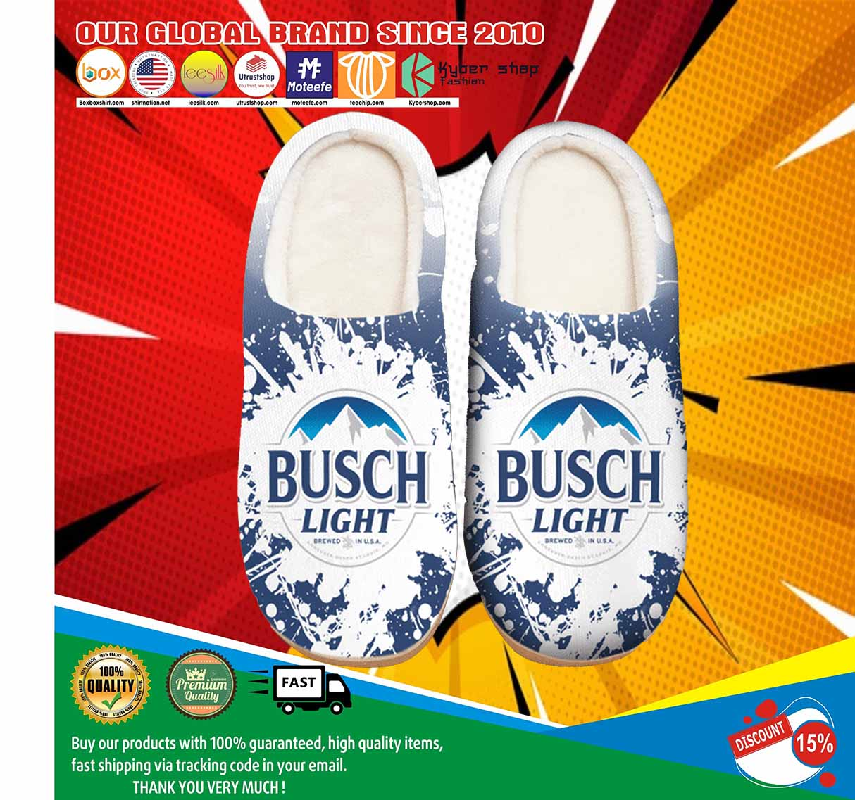 Busch Light Beer Shoes Slippers 4