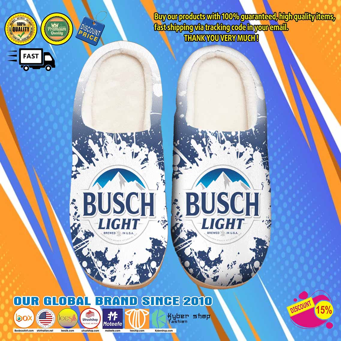 Busch Light Beer Shoes Slippers 6