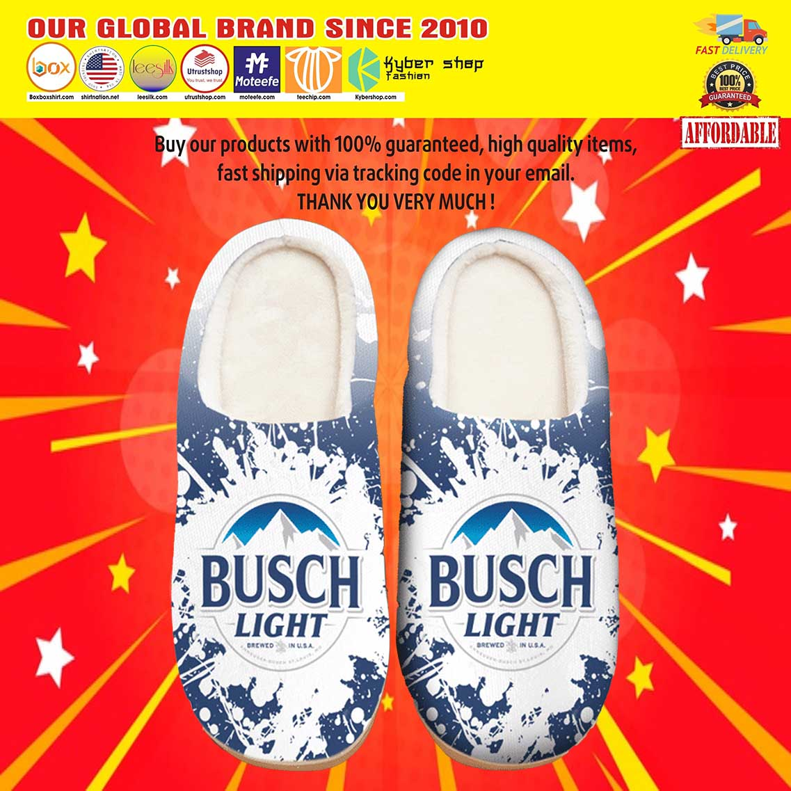 Busch Light Beer Shoes Slippers 8