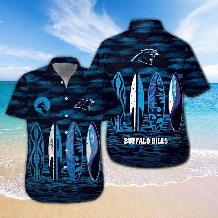 Carolina Panthers Hawaiian shirt And Beach SHORT 14