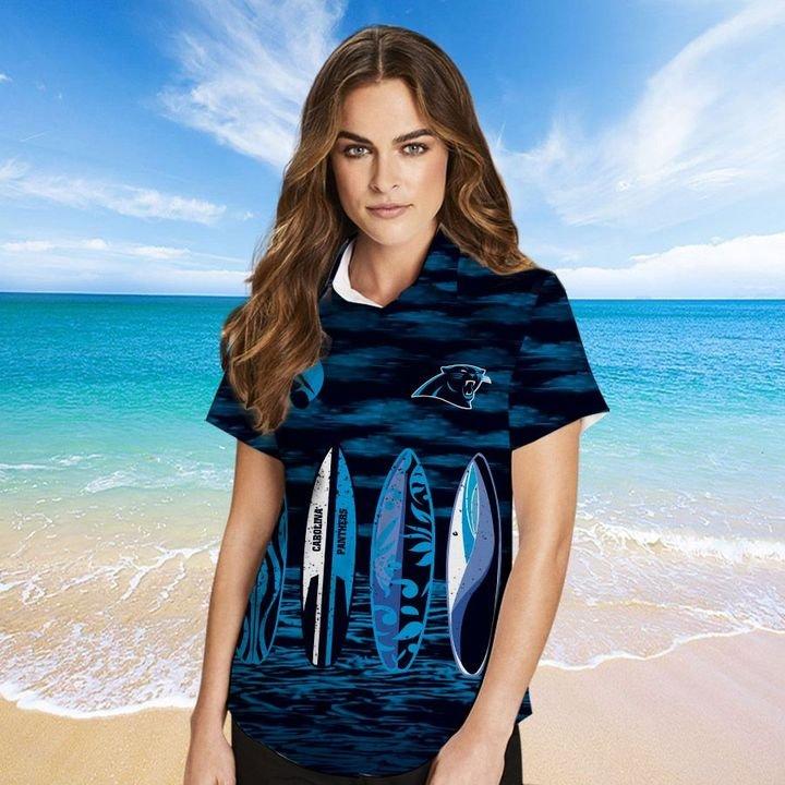 Carolina Panthers Hawaiian shirt And Beach SHORT 13