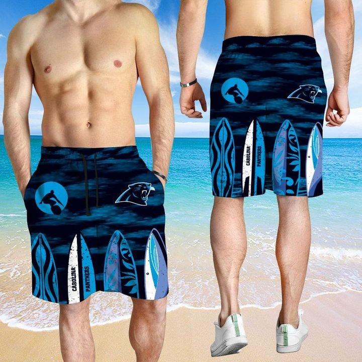 Carolina Panthers Hawaiian shirt And Beach SHORT 12