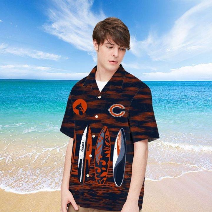 Chicago Bears Hawaiian shirt And Beach SHORT 14