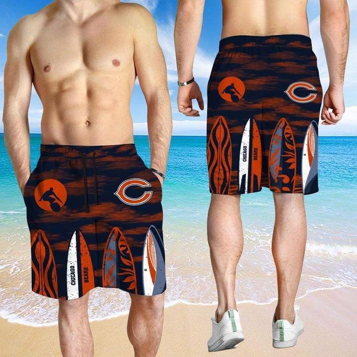 Chicago Bears Hawaiian shirt And Beach SHORT 12