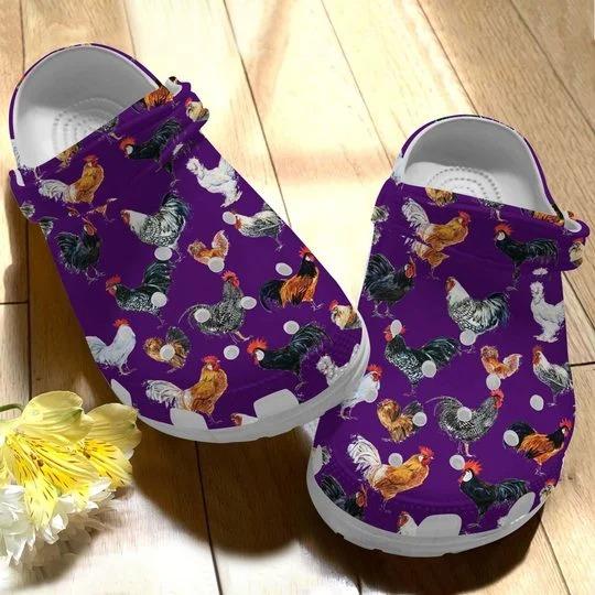 Chicken crocs crocband clog