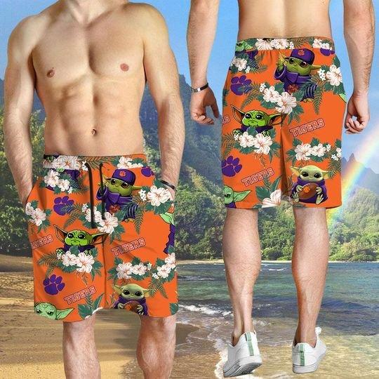 Clemson Tigers And Yoda Hawaiian And Beach Short 6