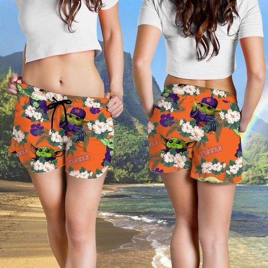 Clemson Tigers And Yoda Hawaiian And Beach Short 5