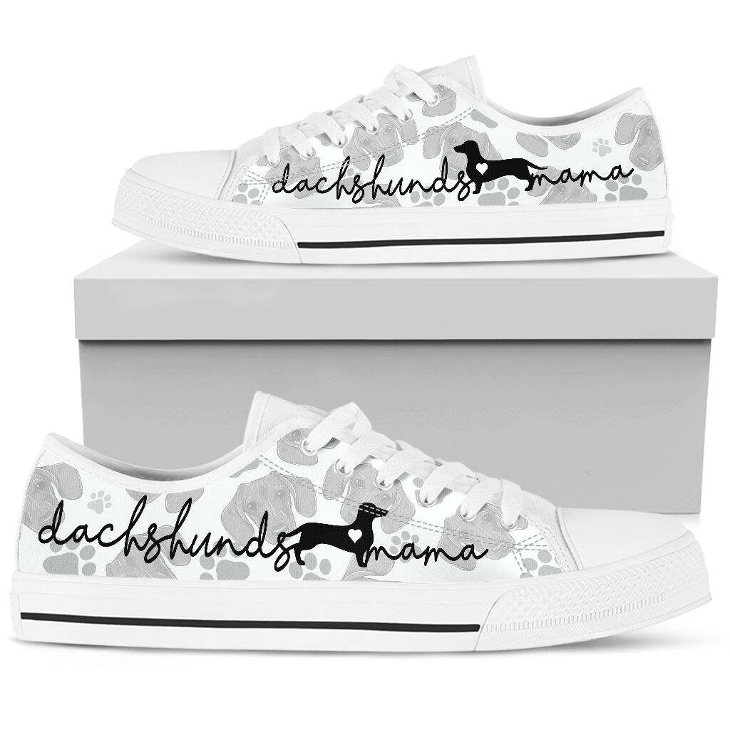 Dachshund lovers mama low top shoes sneaker 9