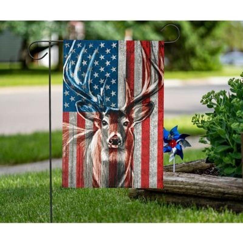 Deer American flag 10