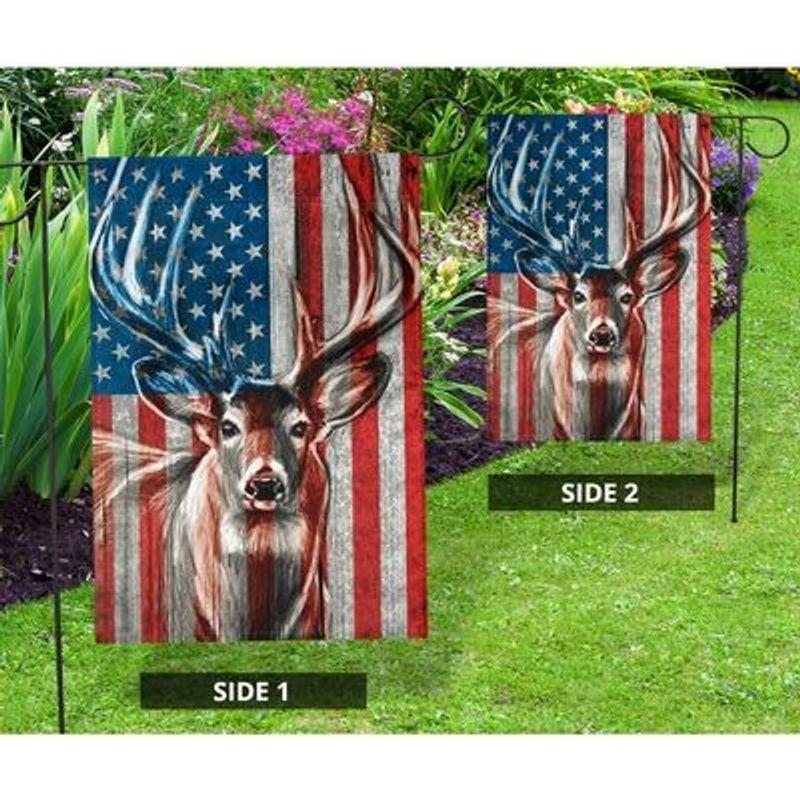 Deer American flag 9