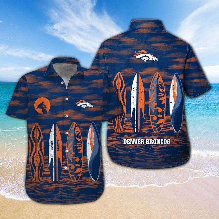 Denver Broncos Hawaiian shirt And Beach SHORT 13