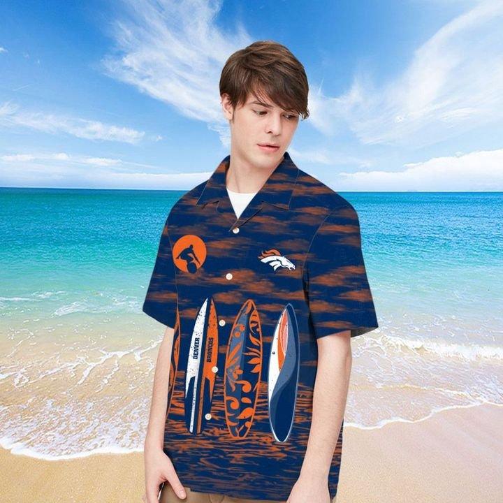 Denver Broncos Hawaiian shirt And Beach SHORT 12