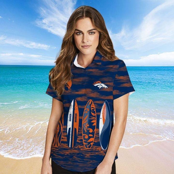 Denver Broncos Hawaiian shirt And Beach SHORT 14