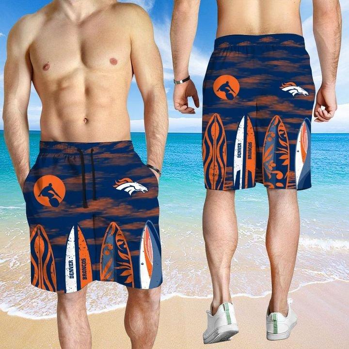 Denver Broncos Hawaiian shirt And Beach SHORT 15