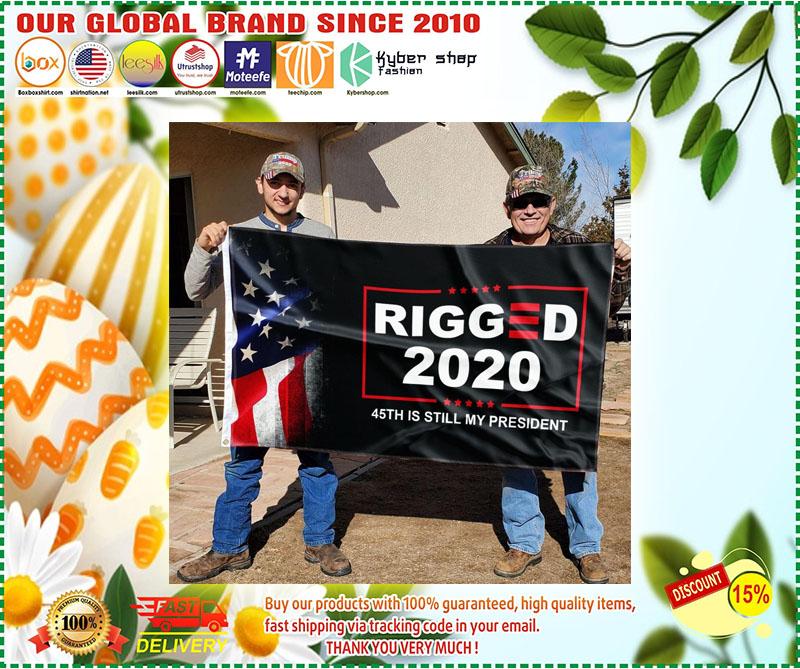 Donald Trump Rigger 2020 45th is still my president flag 9