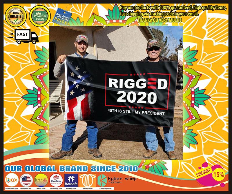 Donald Trump Rigger 2020 45th is still my president flag 11