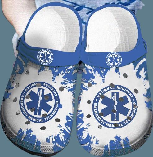 EMT Emergency medical technician Nurse CROCS CLOG SHOES.jpg3