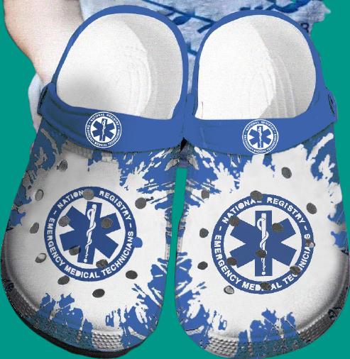 EMT Emergency medical technician Nurse CROCS CLOG SHOES.jpg5