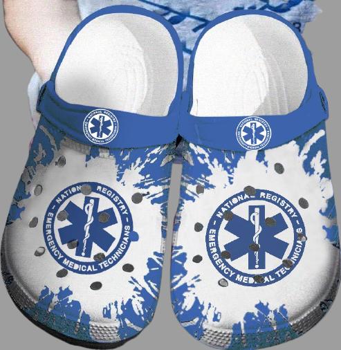 EMT Emergency medical technician Nurse CROCS CLOG SHOES.jpg6