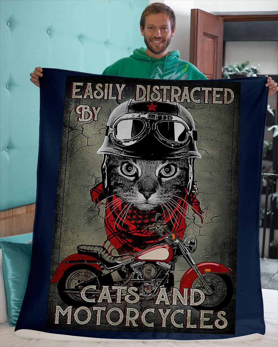 Easily distracted by cats and motorcycles poster 11