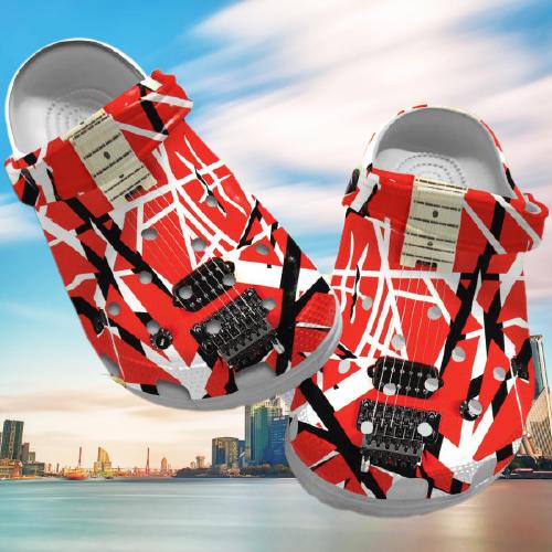 Eddie Van Halen crocs clog crocband shoes.jpg4