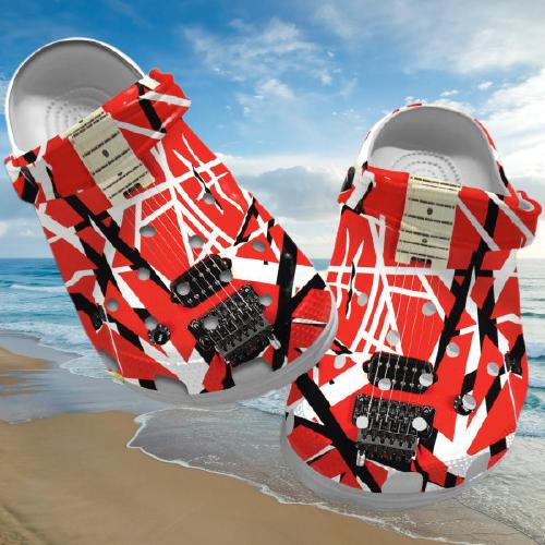 Eddie Van Halen crocs clog crocband shoes.jpg6