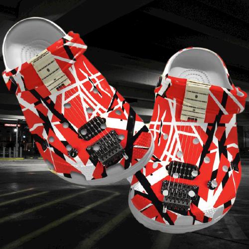 Eddie Van Halen crocs clog crocband shoes.jpg7