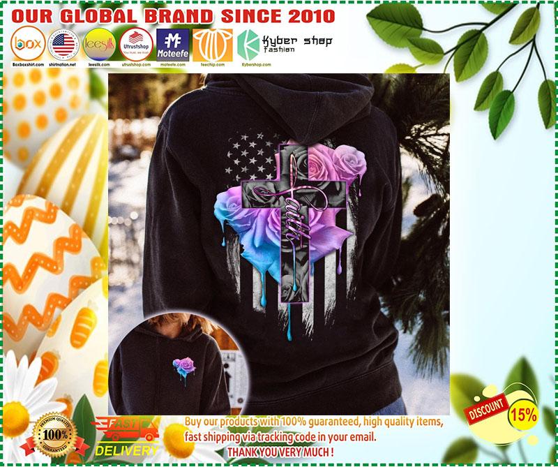 Faith rose skull watercolor 3D hoodie 11