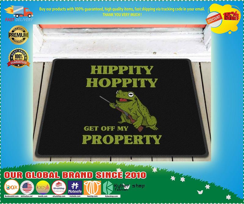 Frog hippity hoppity get off my property doormat 10