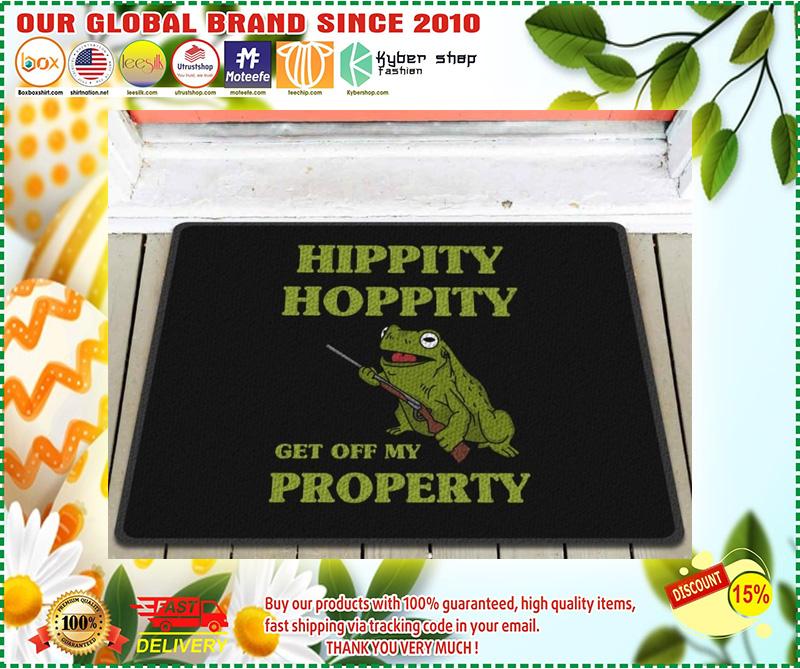 Frog hippity hoppity get off my property doormat 11