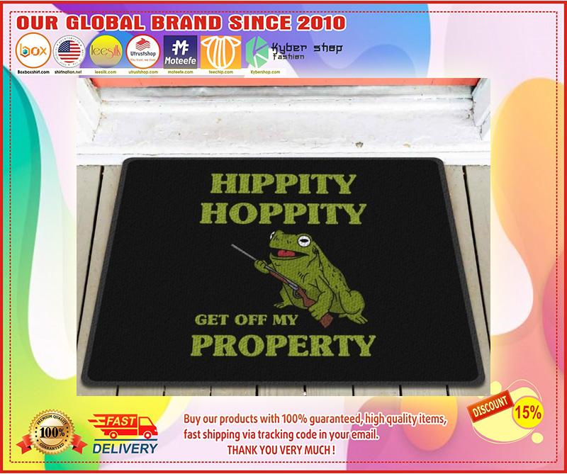 Frog hippity hoppity get off my property doormat 9
