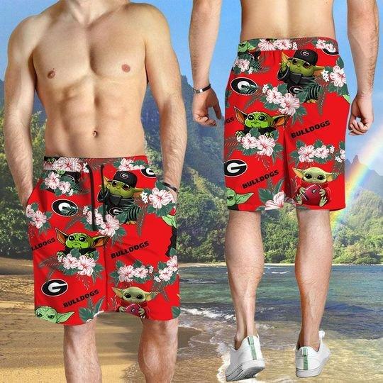 Georgia Bulldogs Yoda Hawaiian And Beach Short 5