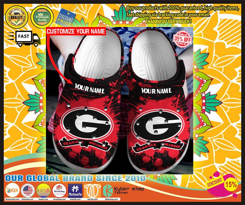 Georgia Bulldogs custom name crocs crocband clog 9