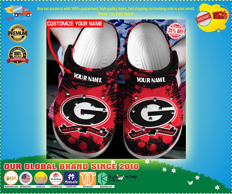 Georgia Bulldogs custom name crocs crocband clog 10