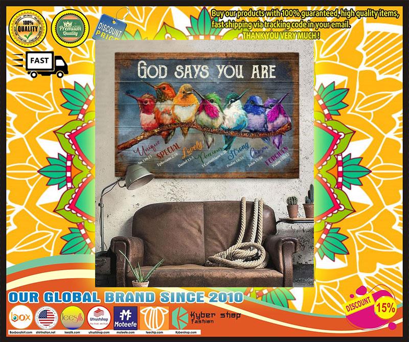 Hummingbird God says you are canvas 11
