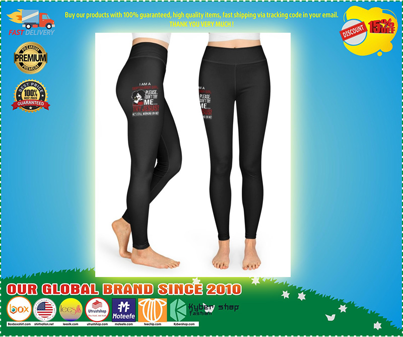 I am a september girl please don't try me Try Jesus legging and T-shirt 11