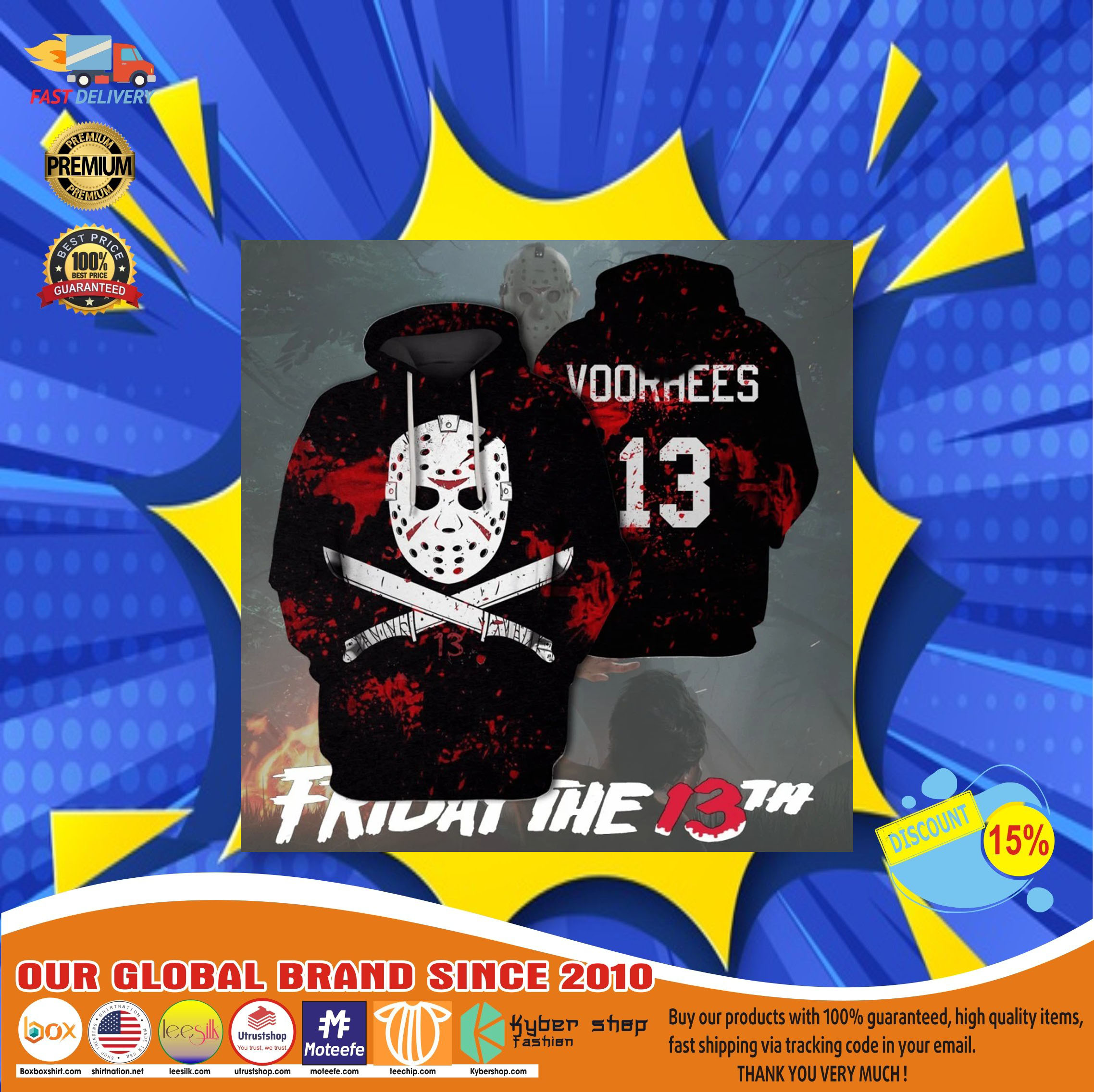 Jason voorhees friday the 13th 3d hoodie11