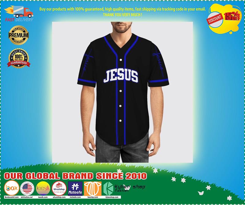 Jesus saved my life Baseball Jersey 10