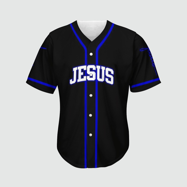 Jesus saved my life baseball jersey 9