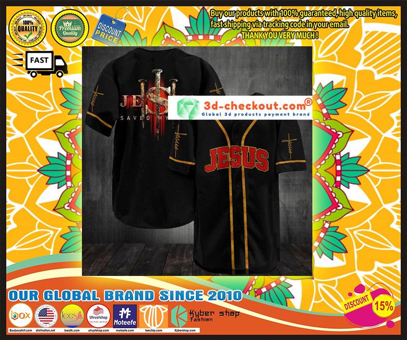 Jesus saved my life baseball jersey shirt 9