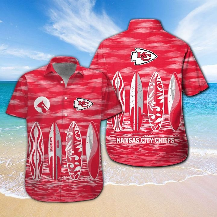 Kansas City Chiefs Hawaiian shirt And Beach SHORT 13