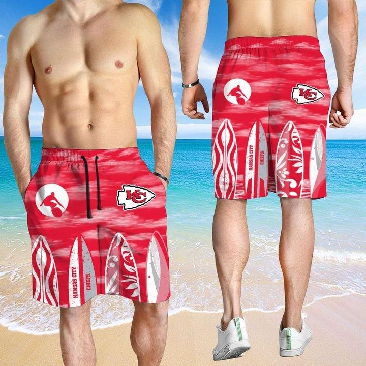 Kansas City Chiefs Hawaiian shirt And Beach SHORT 11