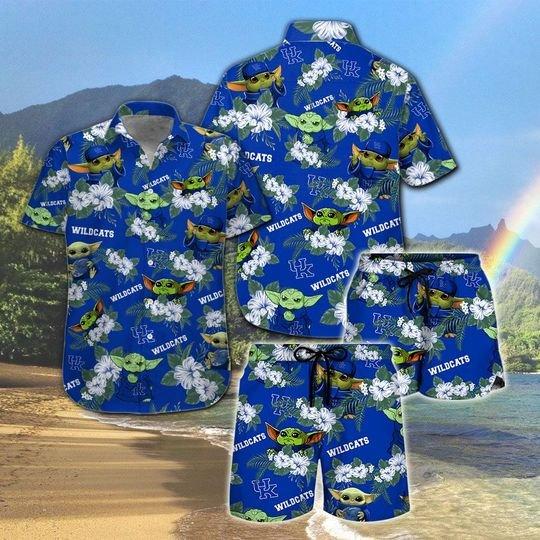 Kentucky Wildcats And Yoda Hawaiian And Beach Short 5