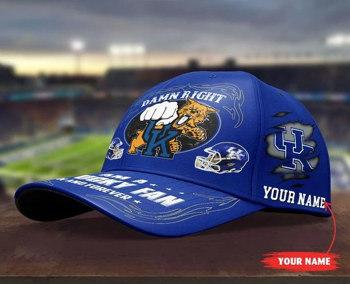 Kewi Damn right I am a Kentucky fan now and forever custom cap 7