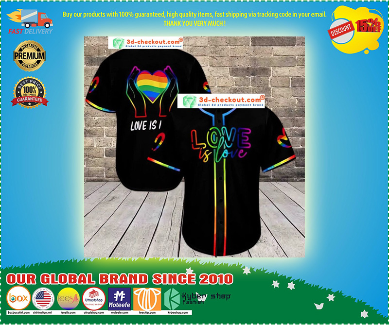 LGBT love is love baseball shirt 10