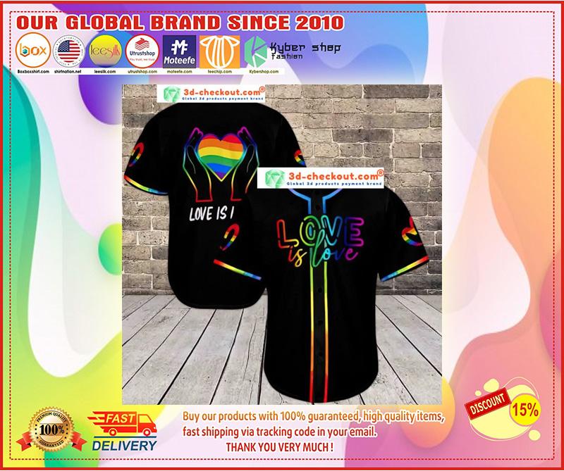 LGBT love is love baseball shirt 9
