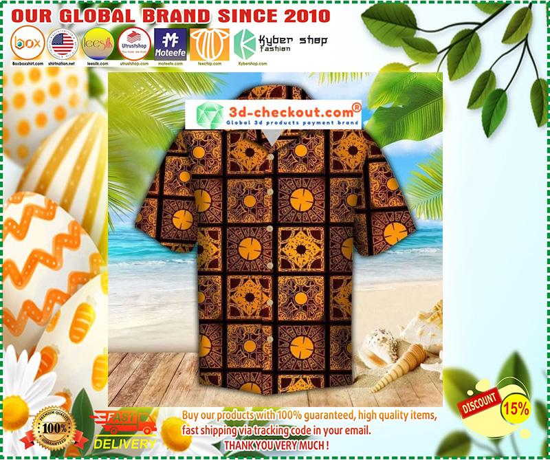Lemar pattern hawaiian shirt 10