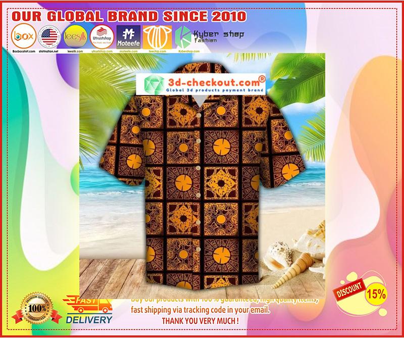Lemar pattern hawaiian shirt 11