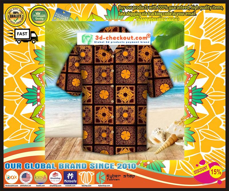 Lemar pattern hawaiian shirt 9