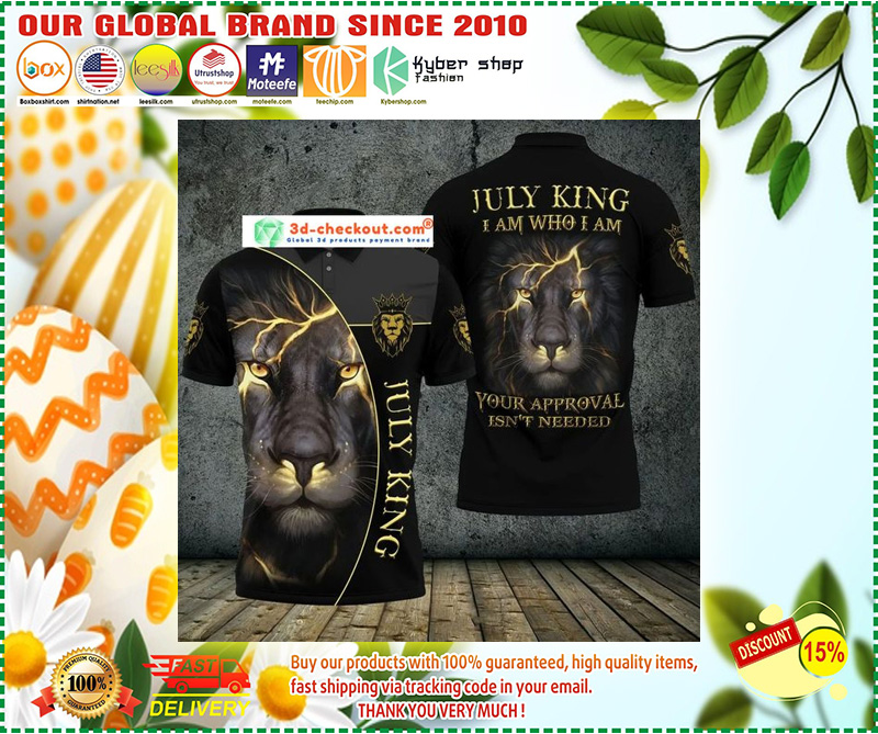Lion july king I am who I am your approve isn't needed polo shirt 10
